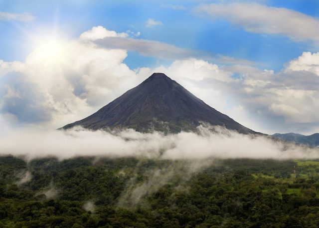Volcanoes are main attractions in Costa Rica.
