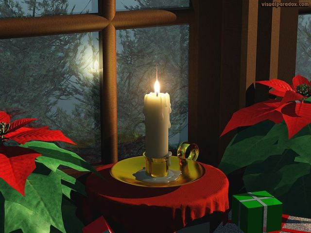 Candles are symbolic objects in Irish traditions for Christmas time.