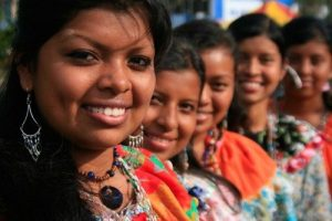 Women of the Bri Bri indigenous culture of Costa Rica