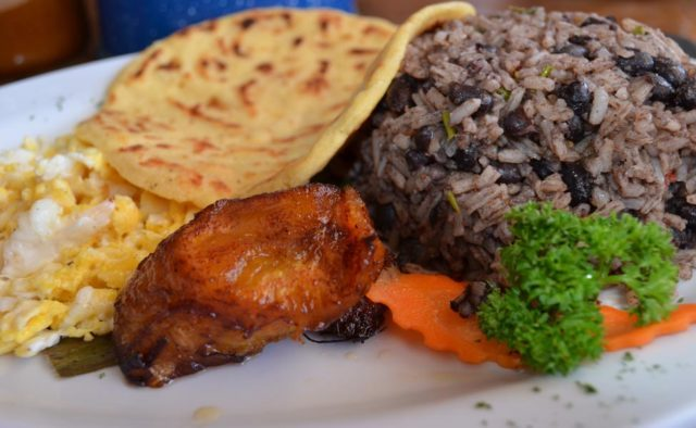 Gallo Pinto may be combined with lots of different food.