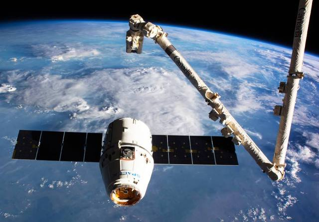 A robotic arm is an extremely useful device in outer space conditions, especially for putting small satellites in orbit.