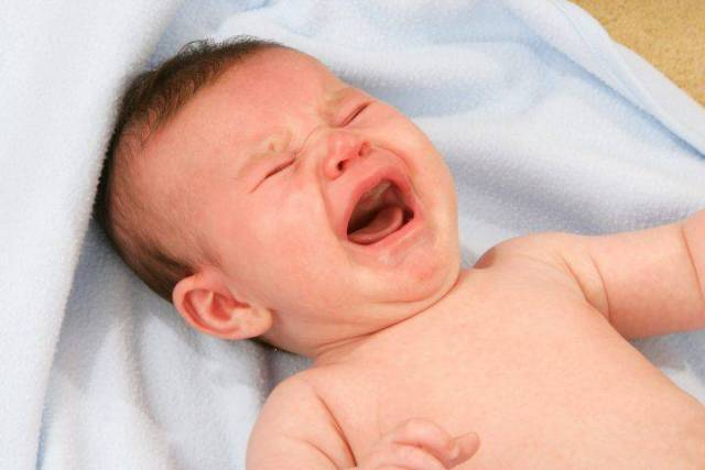 Cute baby crying loud