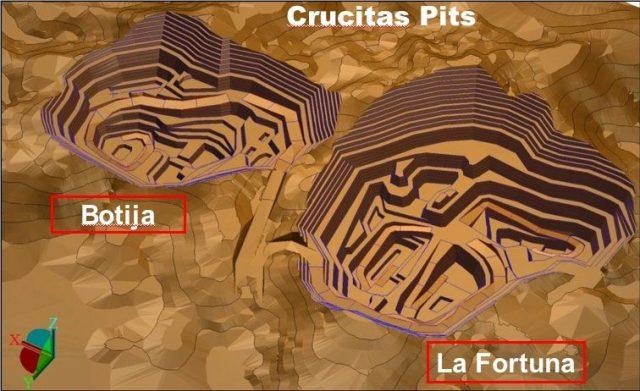 Crucitas Pits map