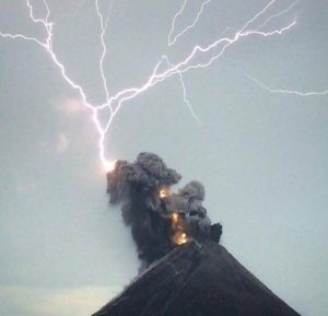 Fuego Volcano sudden eruption