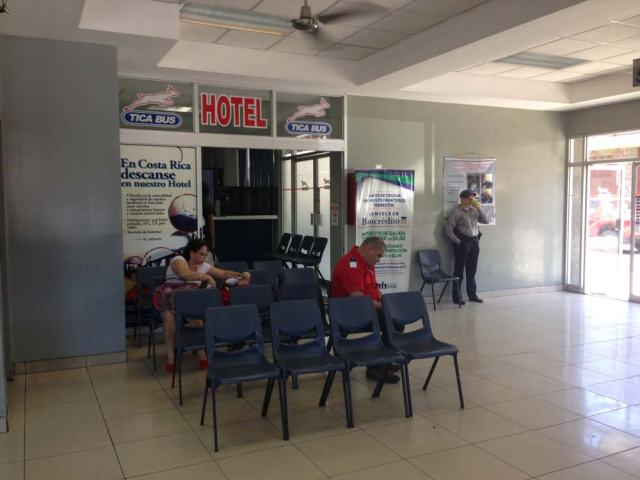 Lobby of Tica Bus station