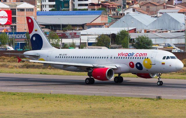 One of the Viva Air Peru planes