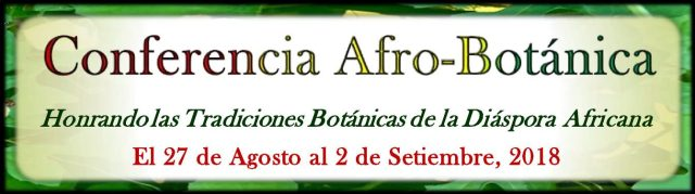 Invitation banner of Afrobotanic lecture in Costa Rica