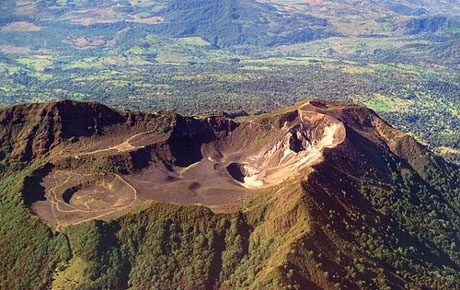 Turrialba Volcano's craters