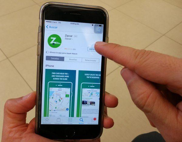 Zipcar mobile App