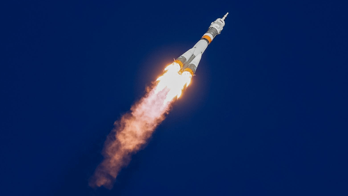 Soyuz rocket after launching