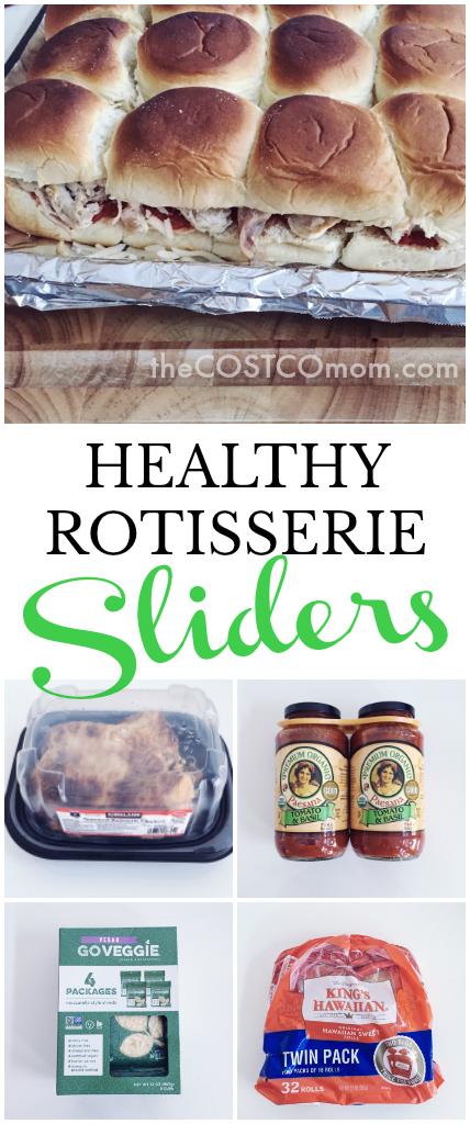 HEALTHY ROTISSERIE CHICKEN PARM SLIDER RECIPES