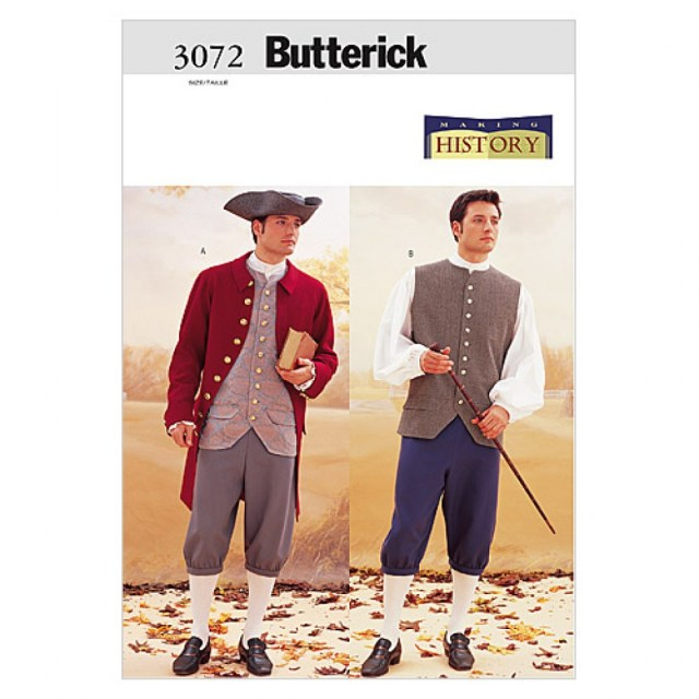 butterick-3072-32-butterick-mens-sewing-pattern-3072-historical ...