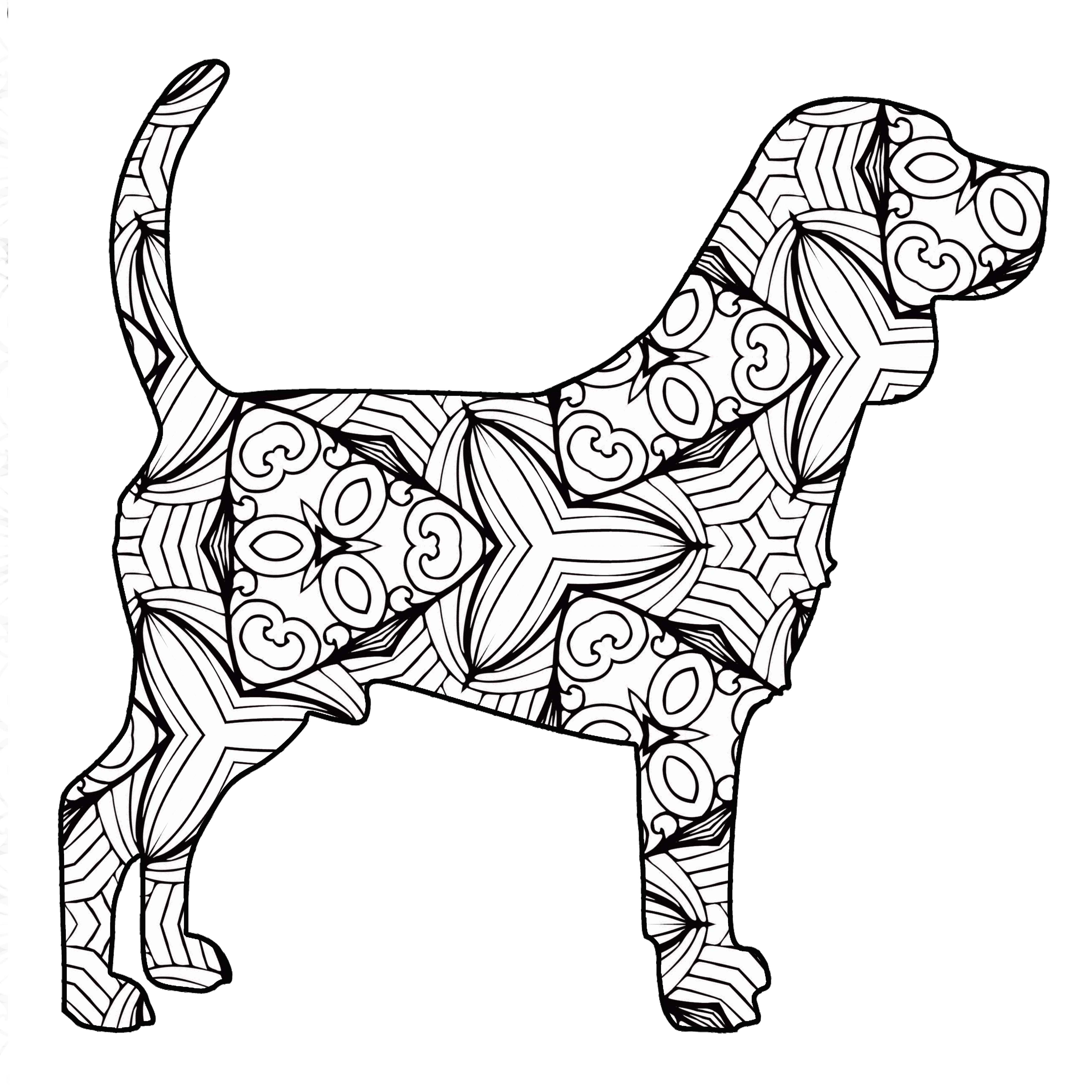 30 Free Printable Geometric Animal Coloring Pages