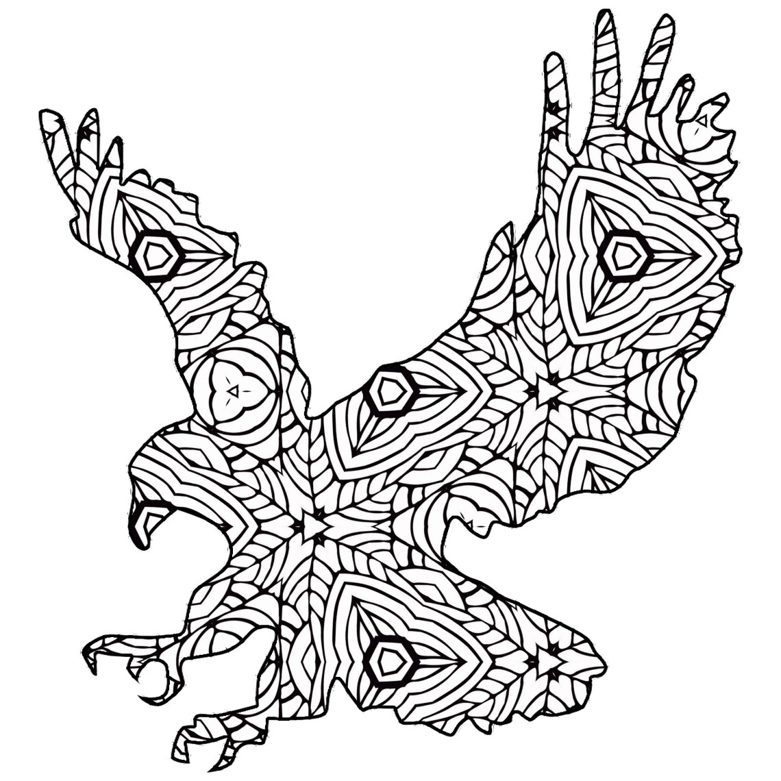 30 Free Coloring Pages /// A Geometric Animal Coloring ... | coloring pages printable animals