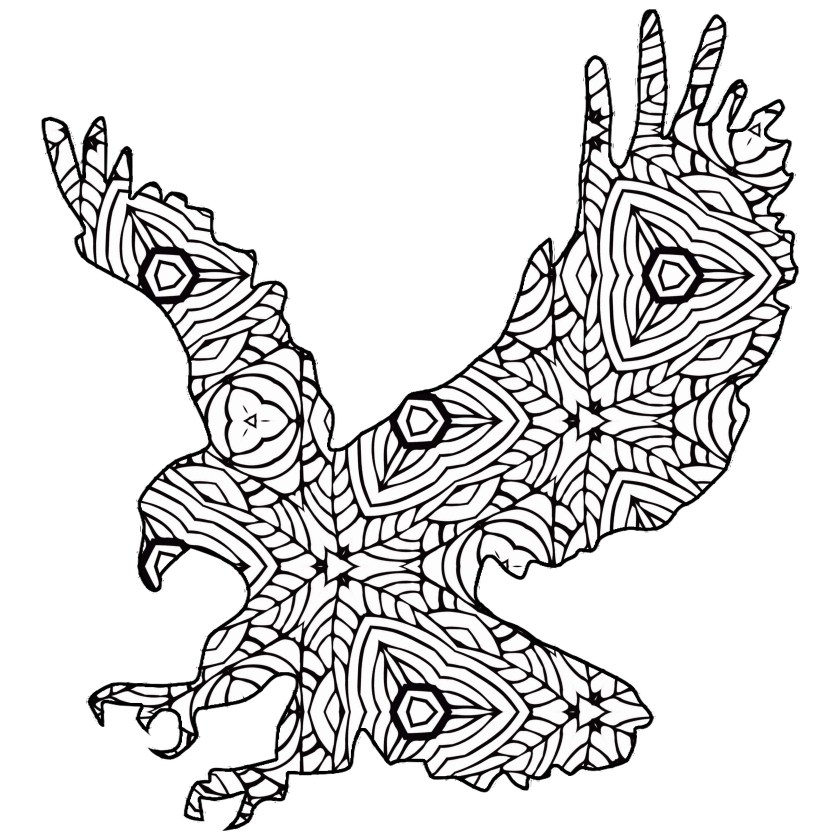 free coloring pages /// a geometric animal coloring