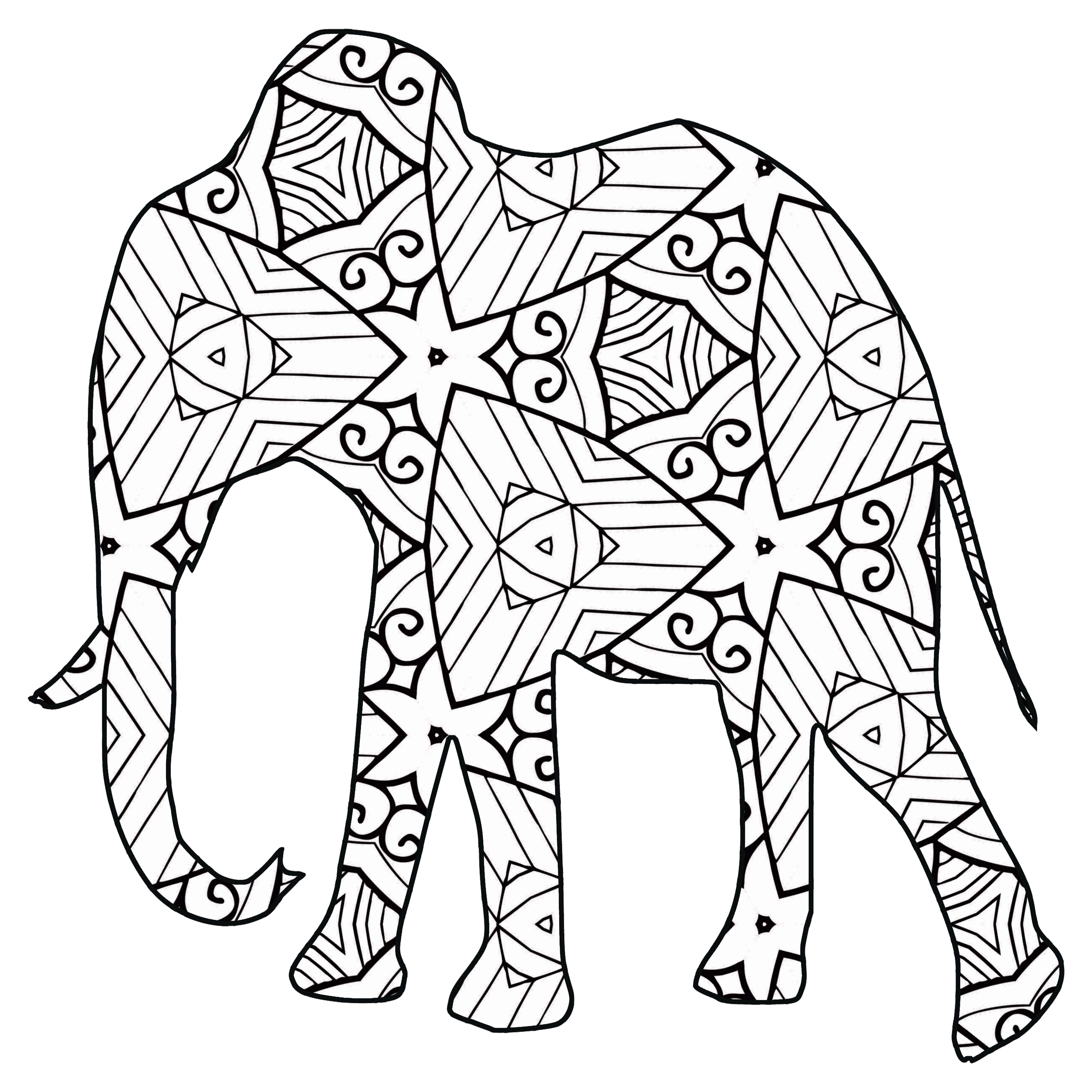 30 Free Printable Geometric Animal Coloring Pages   The ...   free printable coloring pages safari animals