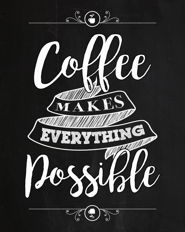 Free Chalkboard Coffee Printable
