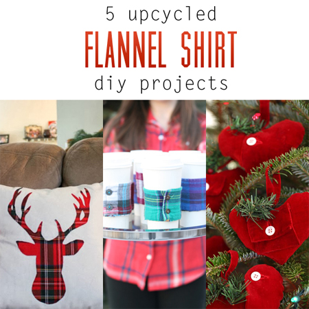 5 Upcycled Flannel Shirt DIY Projects