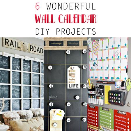 6 Wonderful Wall Calander DIY Projects