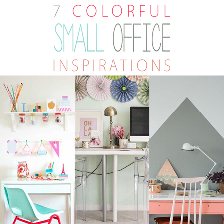 7 Colorful Small Office Inspirations