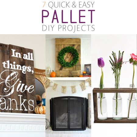 7 Quick and Easy Pallet DIY Projects