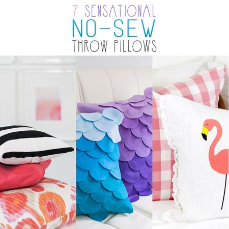 7 Sensational No-Sew Throw Pillows
