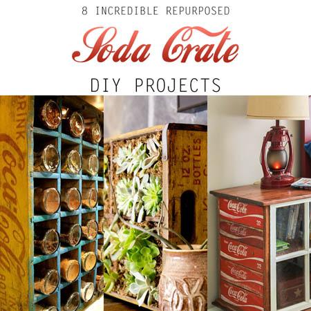 8 Incredible Repurposed Soda Crate DIY Projects