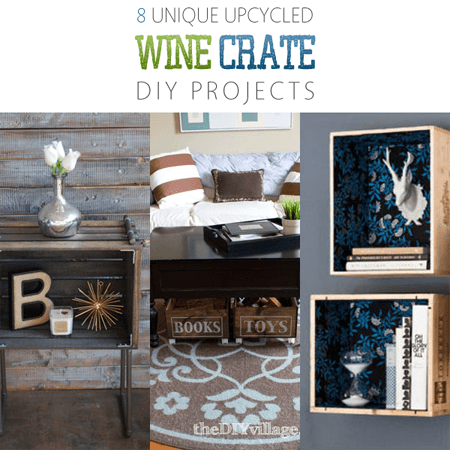 8 Unique Upcycled Wine Crate DIY Projects