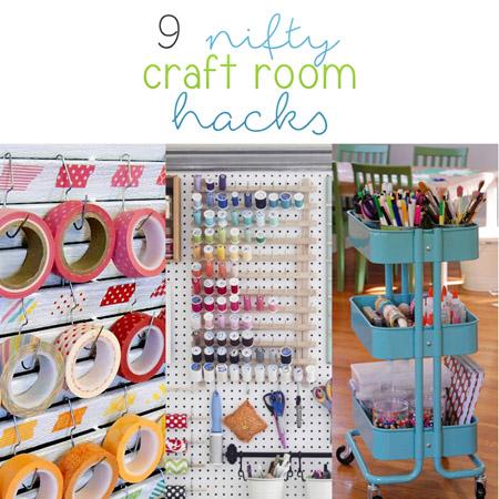 9 Nifty Craft Room Hacks