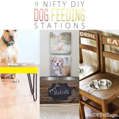 9 Nifty DIY Dog Feeding Stations