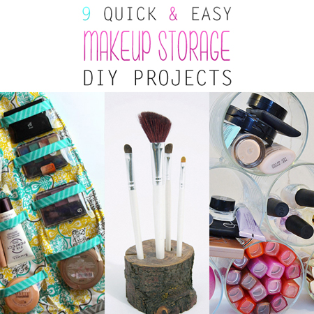 9 Quick and Easy Makeup Storage DIY Projects