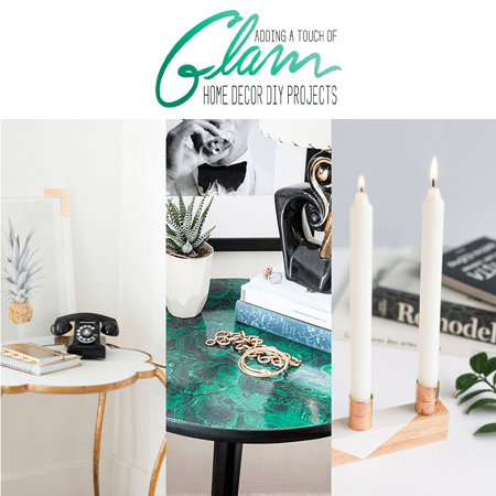 Adding a Touch of Glam Home Decor DIY Projects