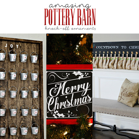 Amazing Pottery Barn Knock-Off Christmas Ornaments