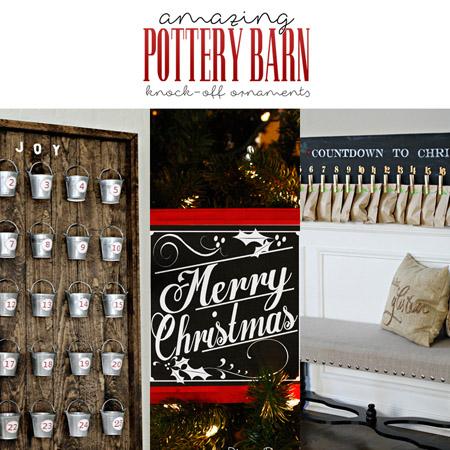 Amazing Pottery Barn Knock-Off Christmas Ornaments