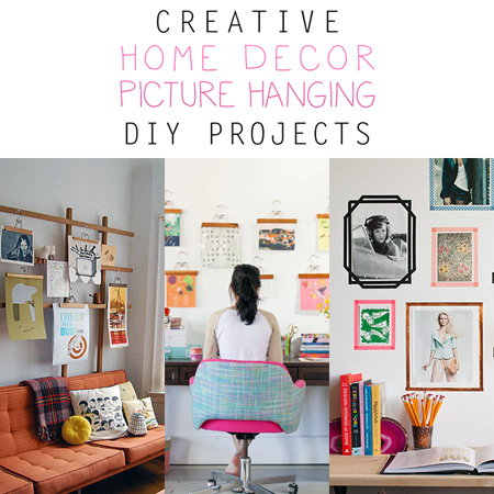 Creative Home Decor Picture Hanging DIY Projects
