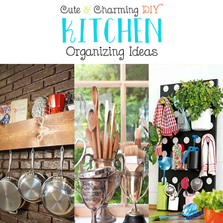 Cute and Charming DIY Kitchen Organizing Ideas