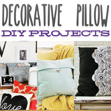 Decorartive Pillow DIY Projects
