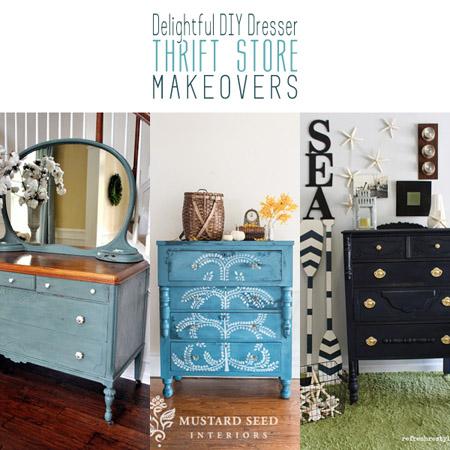 Delightful DIY Dresser Thrift Store Makeovers