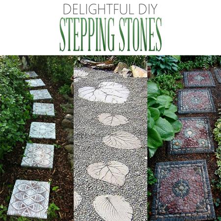 Delightful DIY Stepping Stones