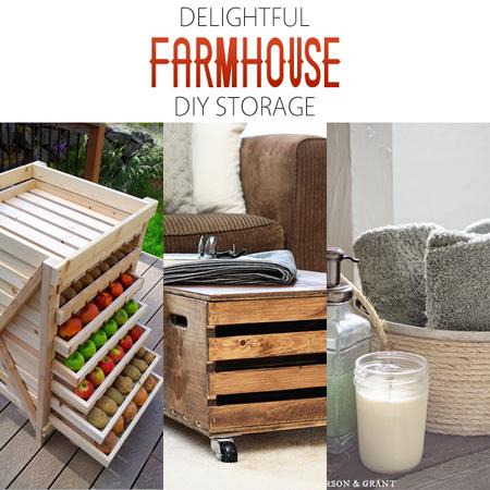 Delightful Farmhouse DIY Storage