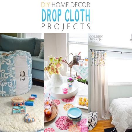 DIY Home Decor Drop Cloth Projects