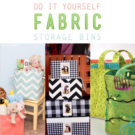 Do It Yourself Fabric Storage Bins
