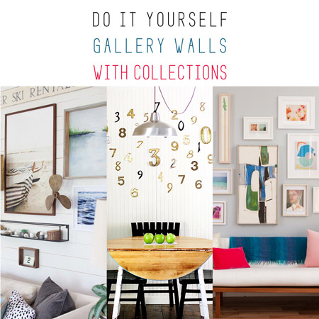 Do it Yourself Gallery Walls with Collections
