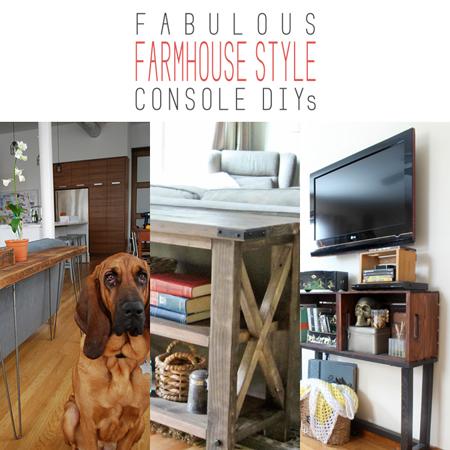 Fabulous Farmhouse Style Console DIYs