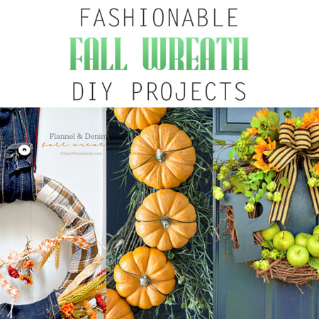 Fashionable Fall Wreath DIY Projects
