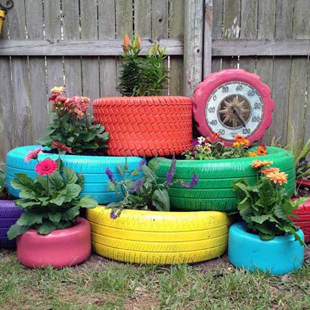 Fun Outdoor Planter DIY Project 11