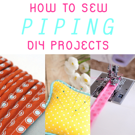 How to Sew Piping DIY Projects