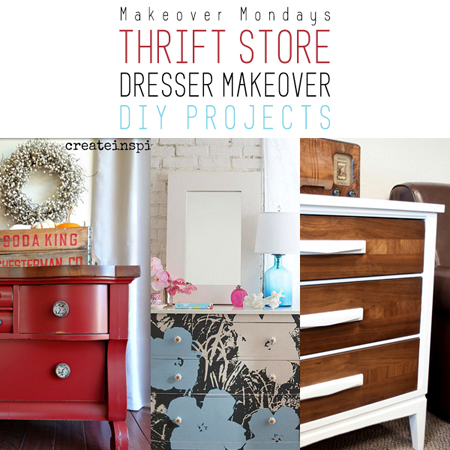 Makeover Monday: Thrift Store Dresser Makeover DIY Projects