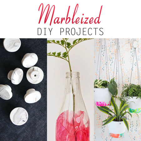 Marbleized DIY Projects