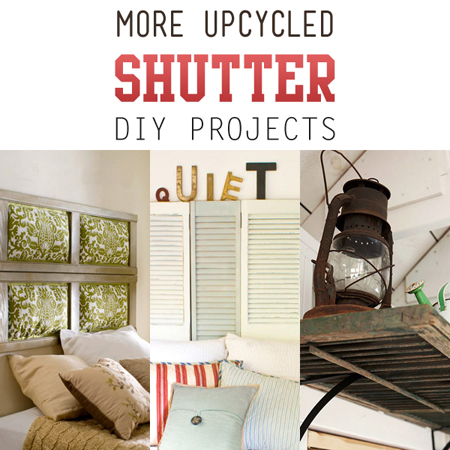 More Upcycled Shutter DIY Projects